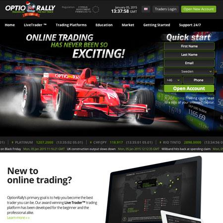 Optionrally trading platform