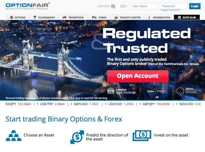 Optionfair binary options trading