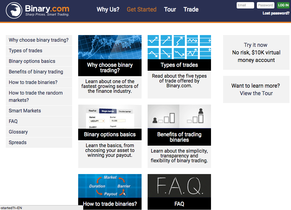 Binary.com screenshot