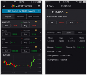 markets.com mobile app trading platform